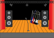 rockowa scena royalty ilustracja