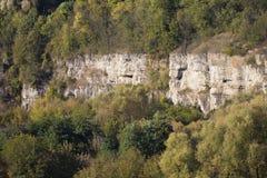 Rockowa struktura w jarze Zdjęcie Royalty Free