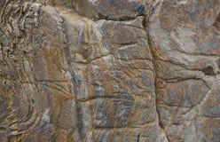 Rockowa tło tekstura z naturalnym wzorem Obrazy Royalty Free