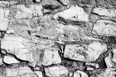Rockowe cegły deseniować kłaść Czarny I Biały Textured fotografia royalty free