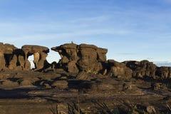 Rockowe formacje, góra Roraima obraz stock