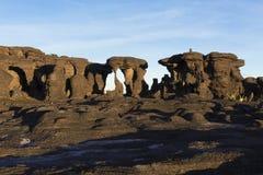 Rockowe formacje, góra Roraima fotografia royalty free