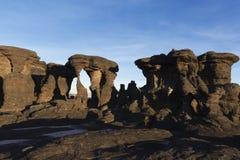 Rockowe formacje, góra Roraima obraz royalty free