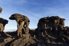Rockowe formacje, góra Roraima zdjęcie stock