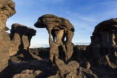 Rockowe formacje, góra Roraima zdjęcia stock