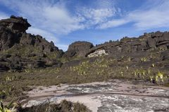 Rockowe formacje, góra Roraima fotografia stock