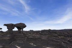 Rockowe formacje, góra Roraima zdjęcia royalty free