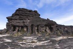 Rockowe formacje, góra Roraima obrazy stock