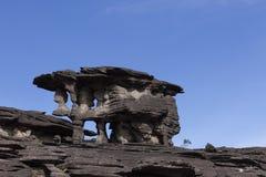 Rockowe formacje, góra Roraima zdjęcie royalty free