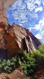 Rockowe formacje i krajobraz przy Zion parkiem narodowym Obrazy Royalty Free