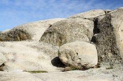 Rockowe formacje jama grodzki Uplistsikhe w wschodnim Gruzja Obrazy Stock
