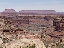 Rockowe formacje przy Canyonlands parkiem narodowym, Utah, usa Zdjęcie Royalty Free
