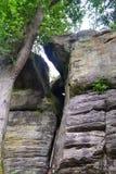 Rockowe formacje przy Wysokimi skałami, Tunbridge studnie, Kent, UK zdjęcie royalty free