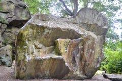 Rockowe formacje przy Wysokimi skałami, Tunbridge studnie, Kent, UK obraz stock