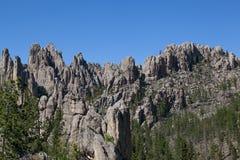 Rockowe formacje w Custer stanu parku zdjęcie stock