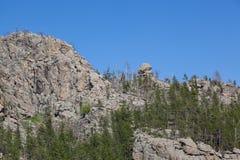 Rockowe formacje w Custer stanu parku obraz stock