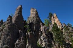Rockowe formacje w Custer stanu parku fotografia stock