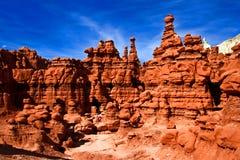 Rockowe formacje w dziwożony dolinie Zdjęcia Stock