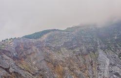 Rockowe formacje w kierunku wierzchołka wulkan kaldera Obraz Stock
