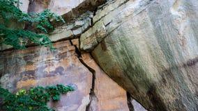 Rockowe formacje w skalistym mieście w górach obraz royalty free