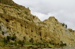 Rockowe formacje zbliżają los angeles Paz w Boliwia Zdjęcie Royalty Free
