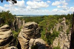 Rockowe miasta Prachov skały Obrazy Stock