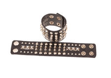 Rockowe stylowe rzemienne bransoletki Zdjęcie Stock