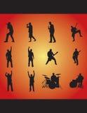 rockowe sylwetki Obraz Royalty Free