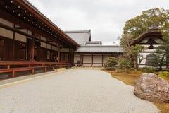 Rockowego ogródu Kinkaku-Ji świątynia w Kyoto Obraz Royalty Free