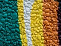 Rockowej ściennej dekoracji kolorowy malujący wzór zdjęcia royalty free