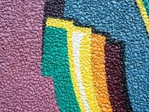 Rockowej ściennej dekoracji kolorowy malujący wzór obraz royalty free