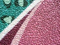 Rockowej ściennej dekoracji kolorowy malujący wzór obrazy royalty free