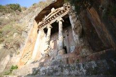 Rockowi grobowowie w Fethiye Zdjęcia Royalty Free