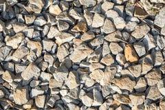 rockowi Kolejowi ślada, kamienny tło obrazy stock