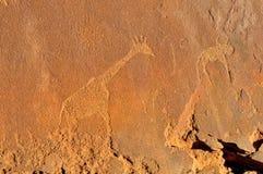 Rockowi rytownictwa przy Twyfelfontein, Namibia Zdjęcie Stock