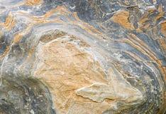 Rockowy ściana z cegieł tło - tekstura Fotografia Stock