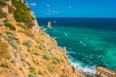 Rockowy żagiel w Gaspra Yalta Obrazy Royalty Free