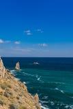 Rockowy żagiel w Gaspra Yalta Obraz Royalty Free
