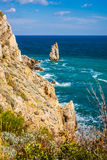 Rockowy żagiel w Gaspra Yalta Fotografia Royalty Free