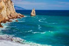 Rockowy żagiel w Gaspra Yalta Obrazy Stock