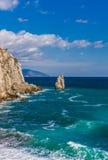 Rockowy żagiel w Gaspra Yalta Zdjęcia Stock