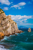 Rockowy żagiel w Gaspra Yalta Zdjęcia Royalty Free