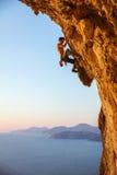 Rockowy arywista na nawisłej falezie Fotografia Stock