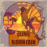 Rockowy arywista na tropikalnej panoramie Obraz Royalty Free