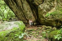 Rockowy cyzelowanie, petroglifu ` losu angeles Piedra Pintada ` w El Valle De Anton/ zdjęcie royalty free
