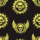 Rockowy czaszki muzyki wzór Zdjęcia Stock