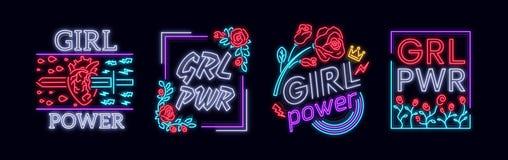 Rockowy druku i sloganu wektor Inkasowi dziewczyny koszulki druki lub inni purposes Symbol feminizm dla drukować w a ilustracja wektor