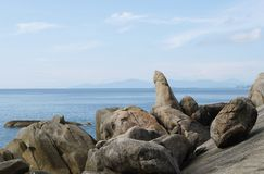 Rockowy dziad, Lamai plaża, Koh Samui, Tajlandia (Hin Ta) Fotografia Royalty Free