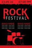 Rockowy festiwalu sztandar Fotografia Royalty Free