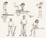 Rockowy gitarzysta ilustracji